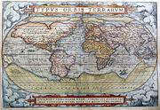 1572 Typus Orbis Terrarum Ortelius