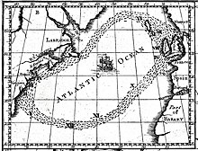 This late-1700s ocean circulation map was based on the work of Benjamin Franklin and James Poupard after conducting drift bottle experiments, ...