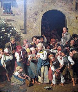 1841 Waldmueller Nach der Schule anagoria