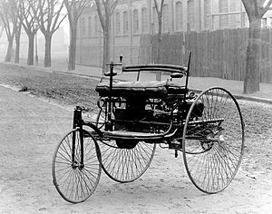 1885 in Germany -  The Benz Patent Motorwagen was built in 1885