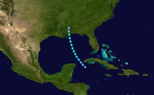 1887 Atlantic hurricane season - Image: 1887 Atlantic tropical storm 3 track