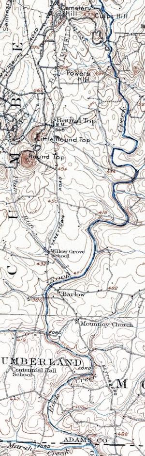 Rock Creek (Monocacy River) - Image: 1907 Taneytown Road