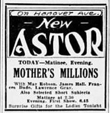 1931 - Astor Theater Ad - 12 Dec MC - Allentown PA.jpg