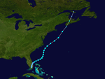 1954 Atlantic tropical storm 2 track.png