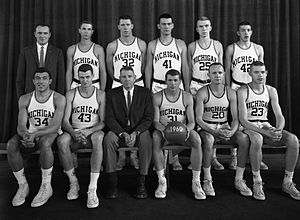 1959–60 Michigan Wolverines men's basketball team - Image: 1960 Michigan Wolverines men's basketball team