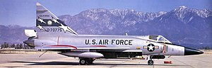 Ontario Air National Guard Station - California Air National Guard 196th Fighter Interceptor Squadron Convair F-102A-90-CO Delta Dagger, AF Ser. No. 57-775, in 1970. This aircraft is now on static display at Clovis Park, California.