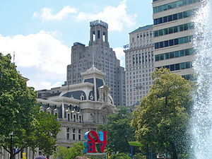 One South Broad - View from LOVE Park with City Hall in front of One South Broad.