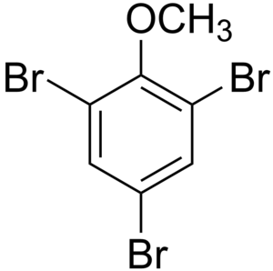 Chemical structure of 2,4,6-tribromoanisole