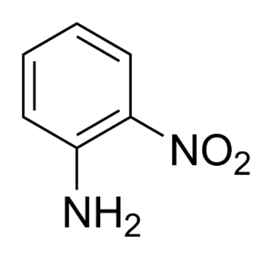 2-Nitroaniline - Image: 2 nitroaniline chemical structure