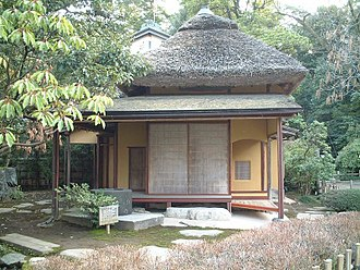 Wabi-sabi - A Japanese tea house which reflects the wabi-sabi aesthetic in Kenroku-en (兼六園) Garden