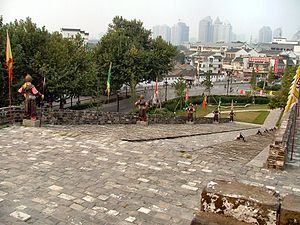 Gate of China, Nanjing - On each side of the gate, large ramps accommodate running soldiers on horse back to the top.