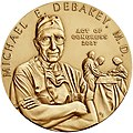 2007 Michael DeBakey Congressional Gold Medal front.jpg