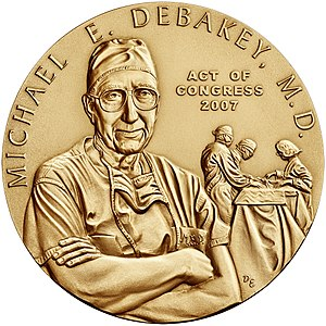 Michael DeBakey - The Congressional Gold Medal awarded to DeBakey
