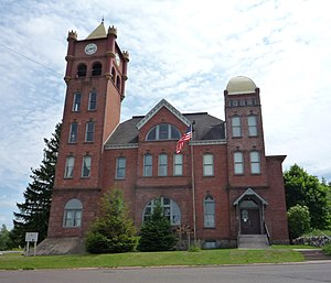 National Register of Historic Places listings in Iron County, Wisconsin - Image: 2009 0617 Old Iron Cty Courthouse Hurley