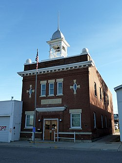 Nerstrand's historic City Hall building, listed on the National Register of Historic Places