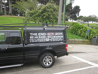Harold Camping - A vehicle in San Francisco proclaiming Harold Camping's 2011 prediction.