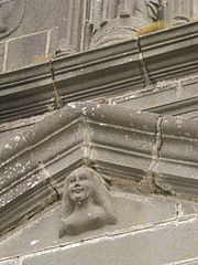 The woman in the south porch pediment.