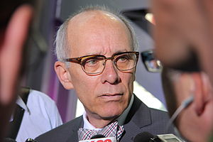 Stephen Mandel - Stephen Mandel on May 21, 2013, announcing plans to retire as Mayor of Edmonton