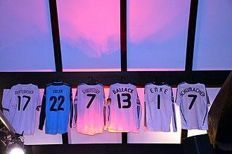 Robert Enke - Enke's No.1 shirt alongside those of other German sportspeople, on display at the Niedersachsenstadion, 2013