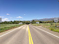 2014-06-13 13 51 54 View east along Nevada State Route 227 (Lamoille Highway) entering Lamoille, Nevada.JPG