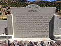 2014-09-09 13 04 21 Historic marker for Eureka, Nevada along U.S. Route 50.JPG