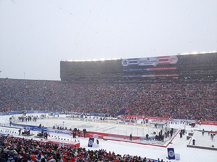 0052a089481 The Red Wings hosted the Maple Leafs at the 2014 NHL Winter Classic in  Michigan Stadium