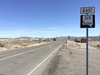 Nevada State Route 319 - View from the west end of SR 319 looking eastbound