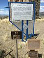 2015-04-02 13 51 48 Historical markers at the Stokes Castle in Austin, Nevada.JPG