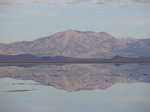 Pilot Peak (Nevada) - Pilot Peak, looking northwest from Interstate 80 in Utah