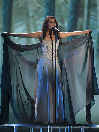 Switzerland in the Eurovision Song Contest 2015 - Mélanie René at a dress rehearsal for the second semi-final