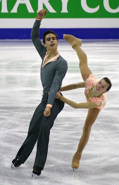 Anna Dušková and Martin Bidař were the record holders for the junior pairs' combined total score.
