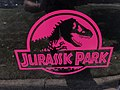 2018-07-12 12 17 28 Jurassic Park logo on a Jeep along Elevation Lane in the Franklin Farm section of Oak Hill, Fairfax County, Virginia.jpg