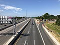 2019-06-26 10 09 46 View south along the southbound lanes of Interstate 395 (Henry G. Shirley Memorial Highway) from the overpass for Virginia State Route 648 (Edsall Road) on the edge of Springfield and Lincolnia in Fairfax County, Virginia.jpg