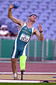 211000 - Athletics field shot put Don Elgin action 2 - 3b - 2000 Sydney event photo.jpg