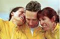 211000 - Cycling track Lynette Nixon Lyn Lepore Kevin McIntosh emotional - 3b - 2000 Sydney race photo.jpg