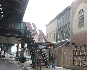 225th Street (IRT White Plains Road Line) - Street stair
