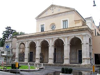 Santa Maria in Domnica church building in Rome, Italy