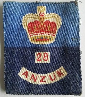 ANZUK - 28 ANZUK Brigade Patch