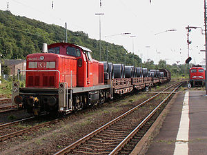 Dillenburg station - Freight train from Dillenburger freight yard to the steel works