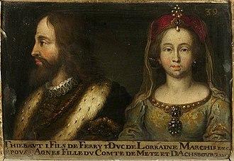 Etichonids - Image: 39. Thiébaud Ier, duc de Lorraine, et son épouse Gertrude de Dabo