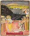 3 Nichal Chand (attr) Krishna Celebrates Holi with Radha and the Gopis 1750-60 Boston MFA.jpg