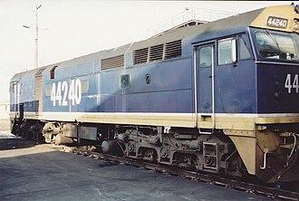FreightCorp - Image: 44240 FR Blue broadmeadow loco 1990