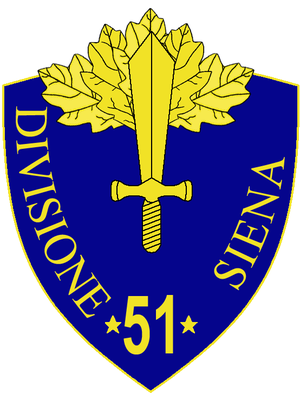 51st Infantry Division Siena - 51st Infantry Division Siena Insignia