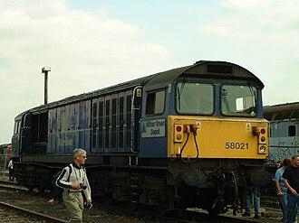 British Rail Class 58 - Image: 58021 Mainline livery