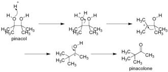 Pinacol rearrangement - Pinacol rearrangement