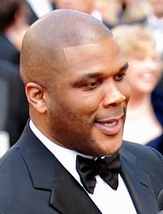 Tyler Perry - the kind, talented, clever,  actor, comedian, writer,   with Afro-American roots in 2017
