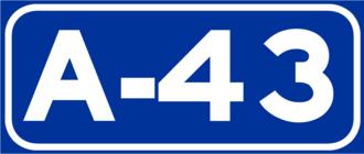 European route E903 - Image: A 43Spain