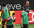 AC Milan players warming up, August 2012.jpg