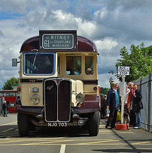 Oxford Bus Museum - The museum's first bus, a 1949 AEC Regal III of City of Oxford Motor Services