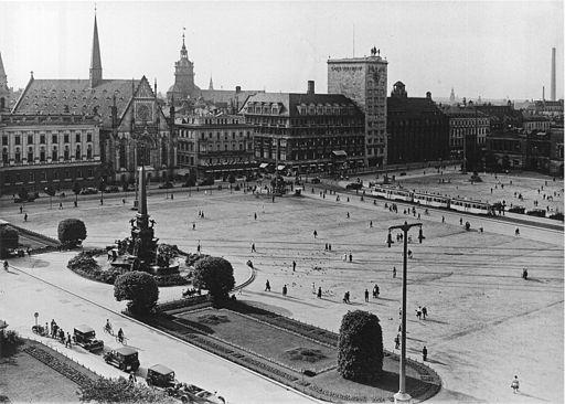AHW Augustusplatz Leipzig um 1930